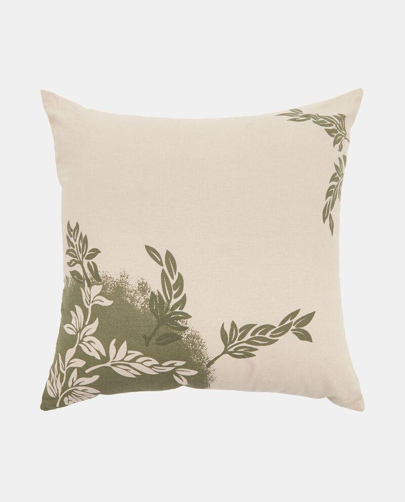 Cuscino imbottito con foglie ai lati