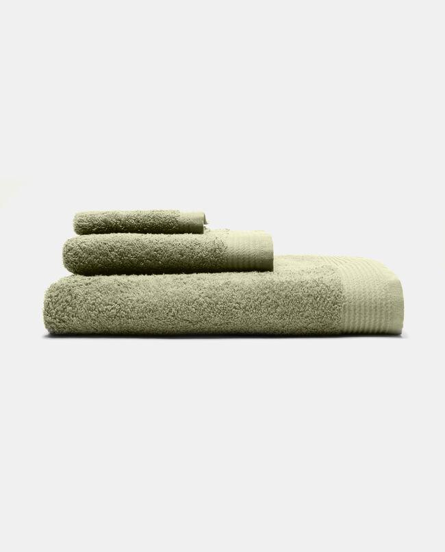 Asciugamano viso con bordatura rigata