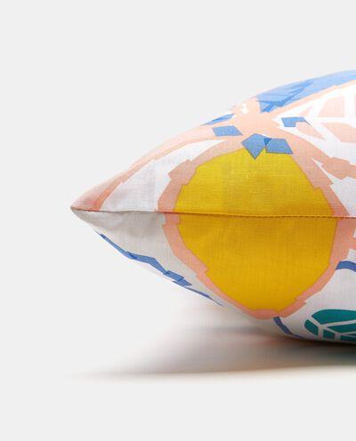 Cuscino floreale con esterno in puro cotone