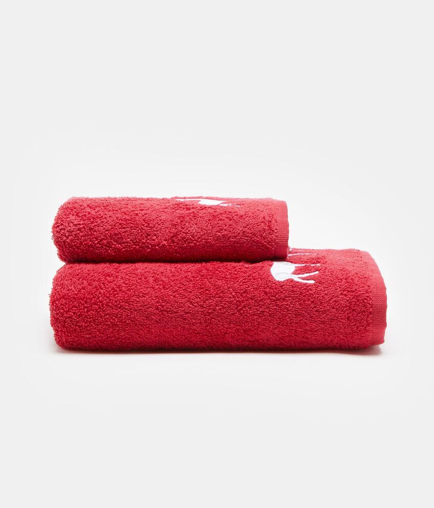 Set due asciugamani ricamo renna