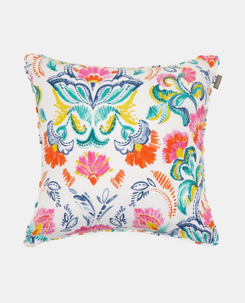 Cuscino con stampa floreale in misto cotone