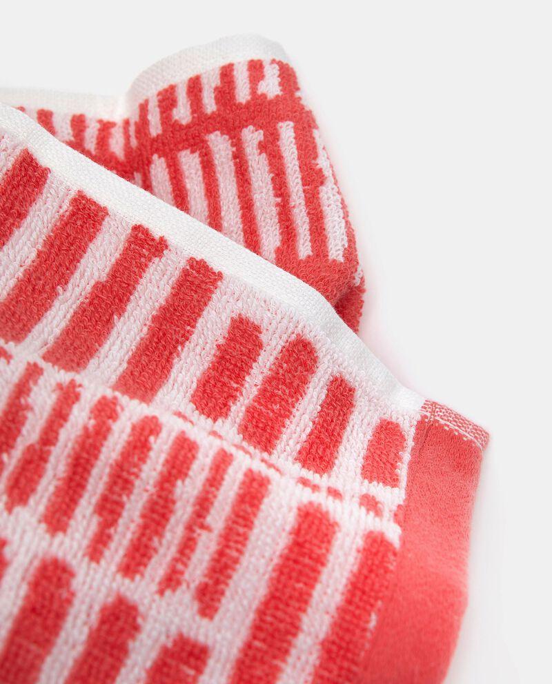 Asciugamano ospite a righine in puro cotonedouble bordered 1