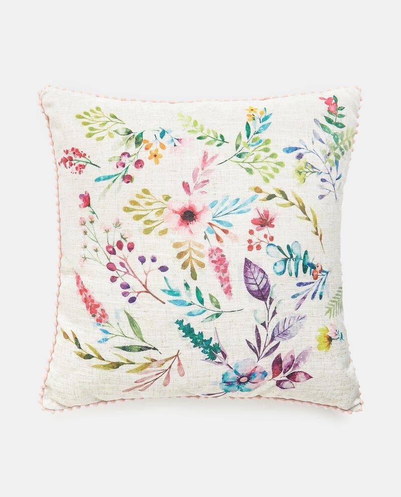 Cuscino con stampa fiori digitale