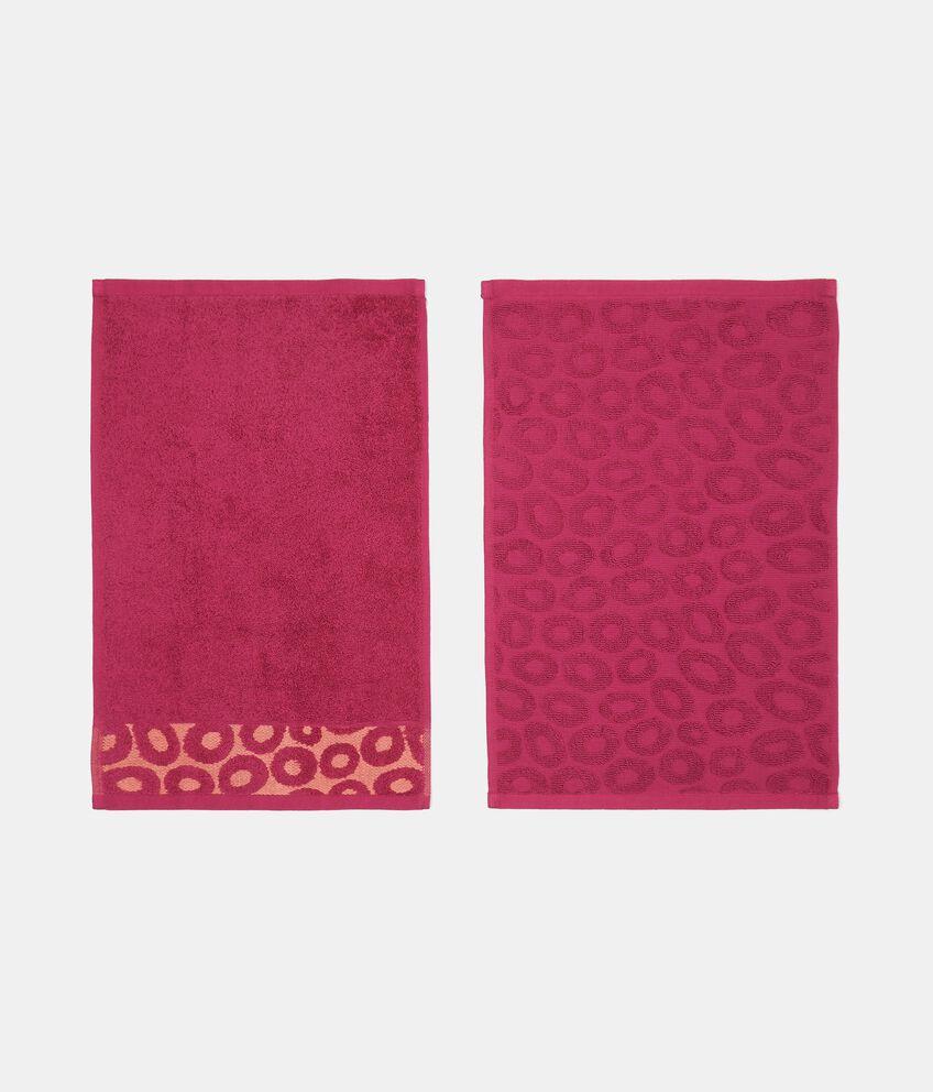 Set con 4 asciugamani con decoro cerchi in puro cotone double 2
