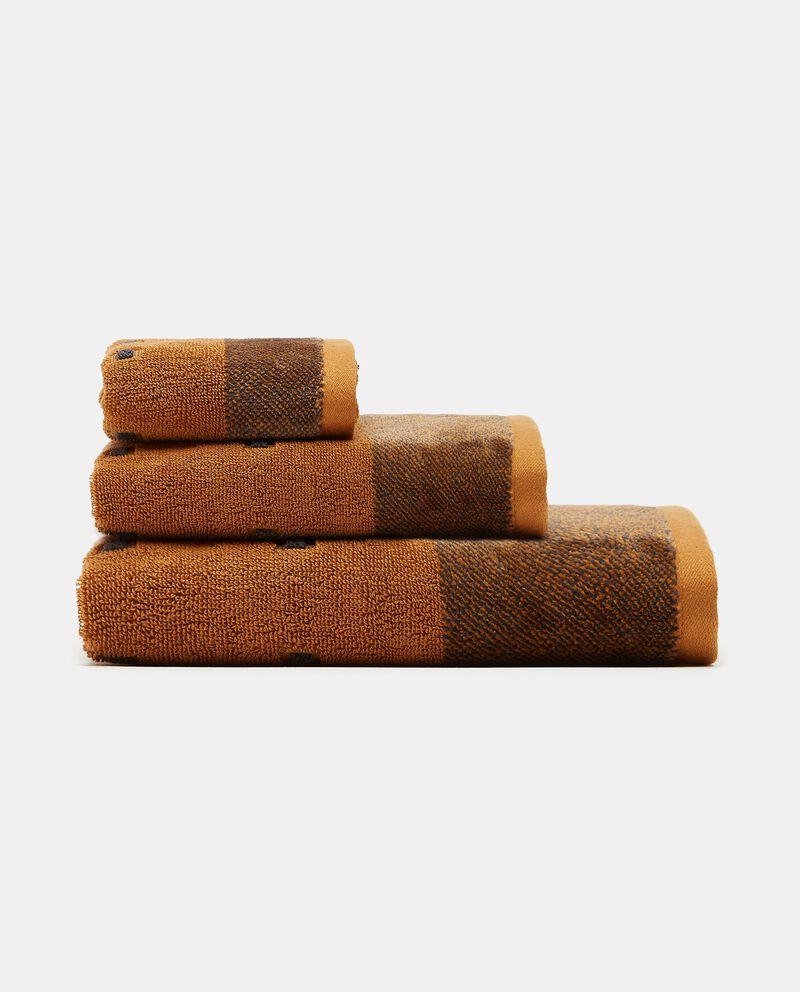 Asciugamano mani con decoro micro quadretti puro cotone cover