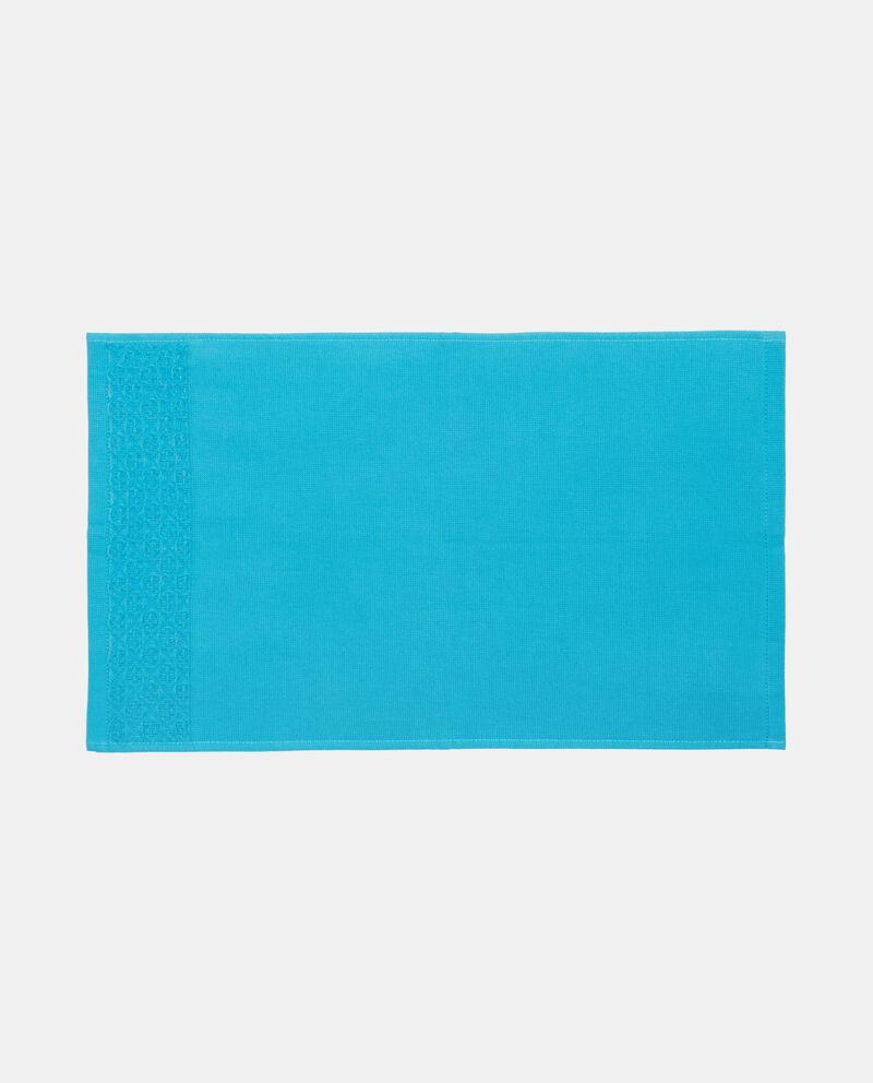 Asciugamano ospite in puro cotone con bordatura single tile 1