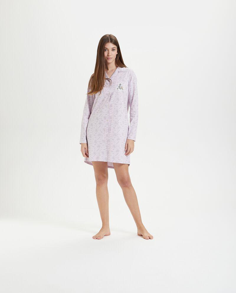 Camicia da notte in puro cotone con stampa Tom & Gerry