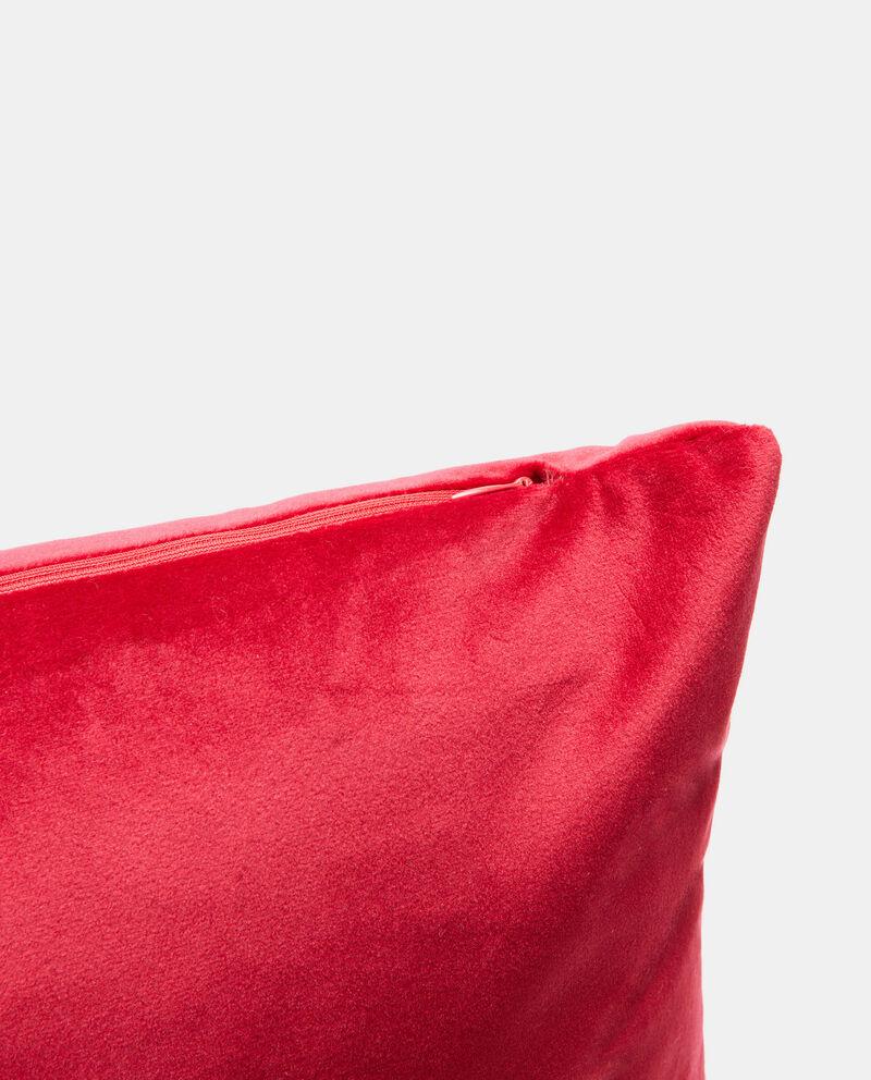 Cuscino in velluto tinta unita con zip