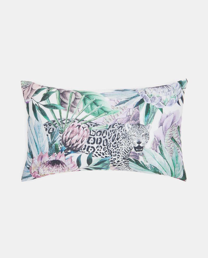 Cuscino rettangolare con fantasia tropicale