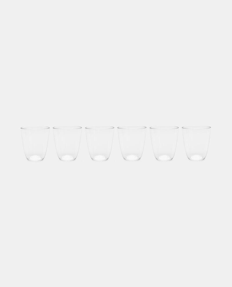 Set sei bicchieri ovali in vetro