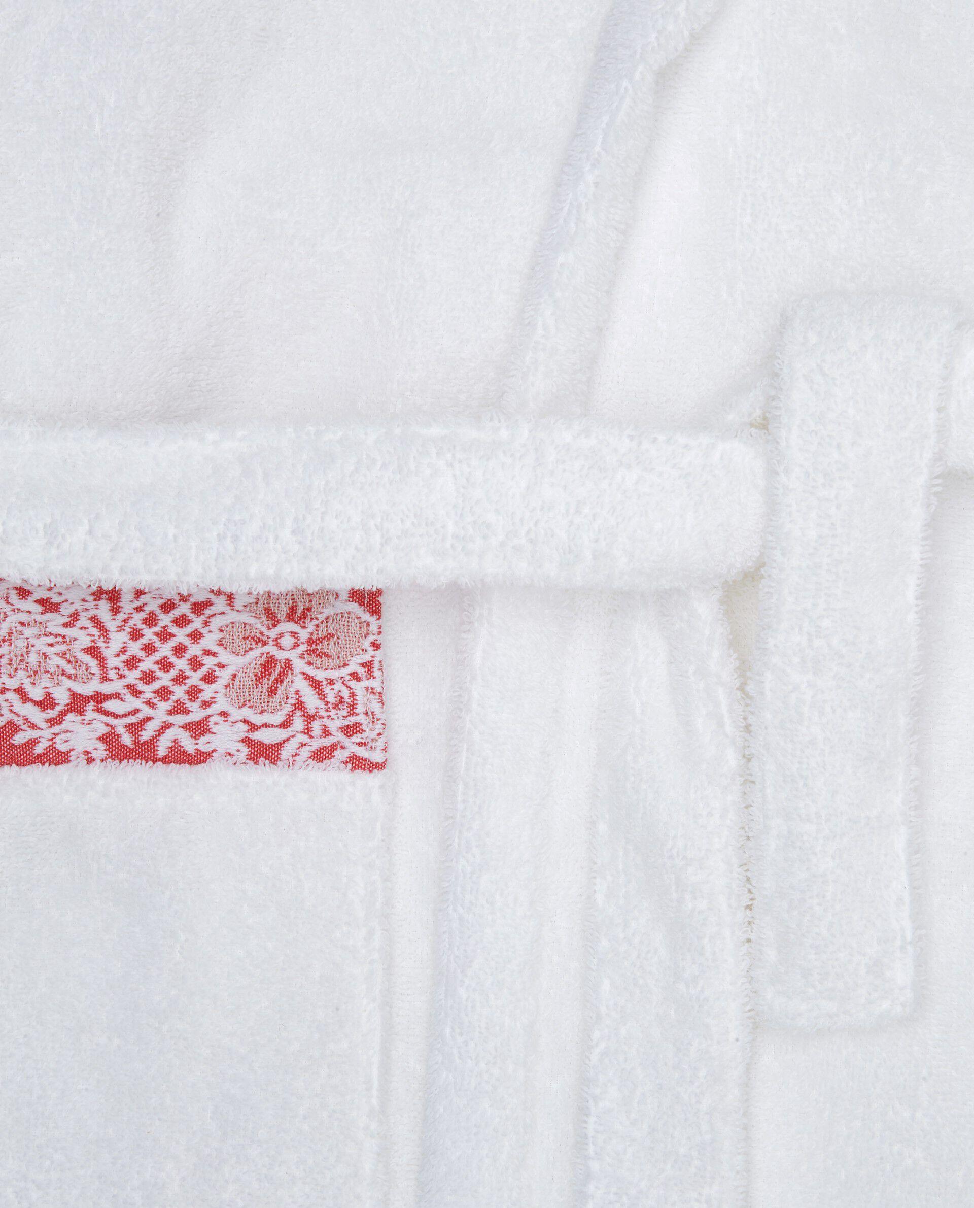 Accappatoio cotone bordo jacquard