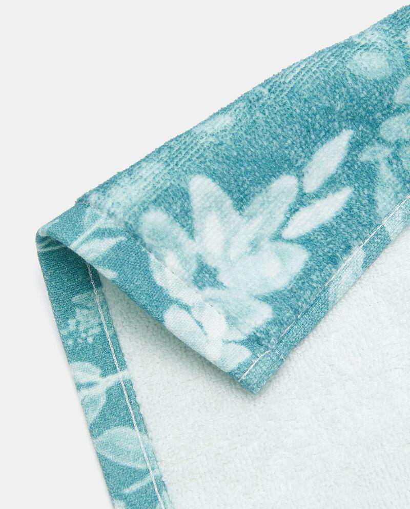 Asciugamano ospite con stampa fiori in puro cotone single tile 1