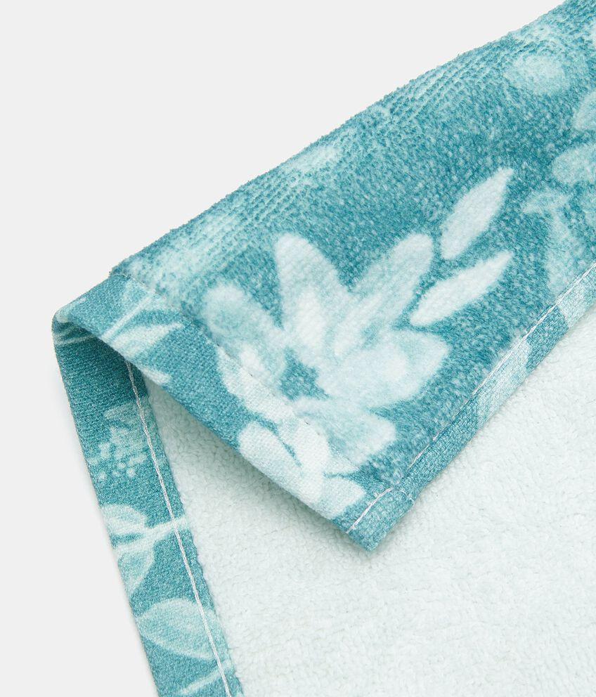 Asciugamano ospite con stampa fiori in puro cotone double 2