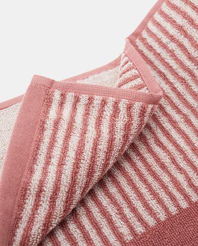 Asciugamano ospite con motivo a righe in puro cotone