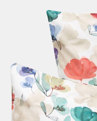 Parure puro cotone floreale acquerello