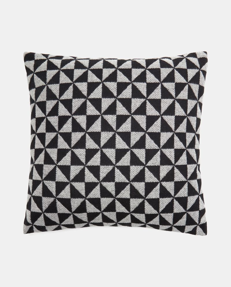 Cuscino wool con stampa geometrica cover