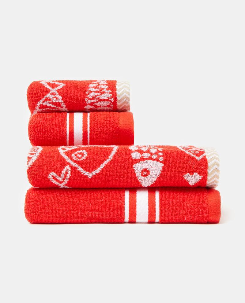 Asciugamani con decori in puro cotone