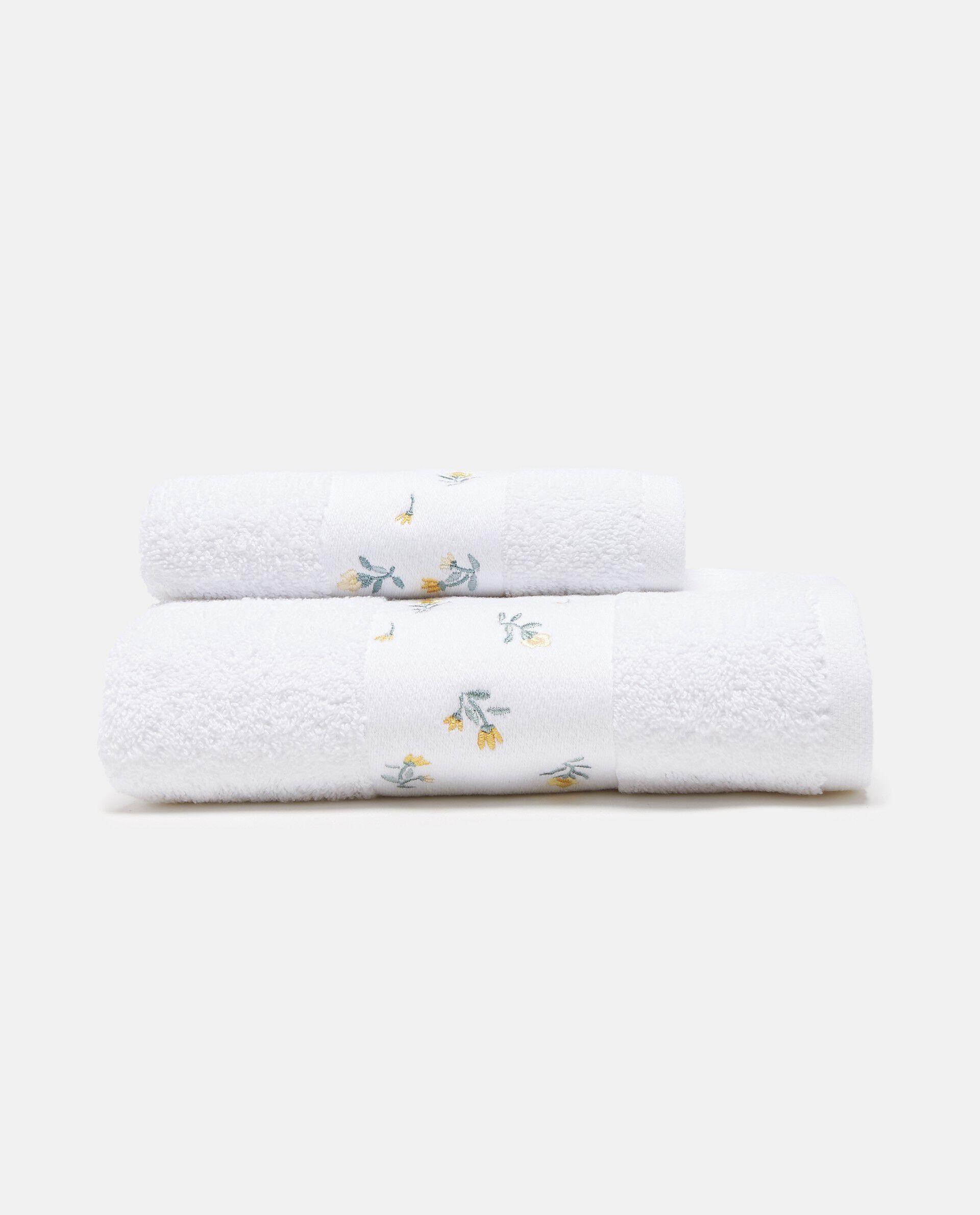 Set due asciugamani cotone e roselline