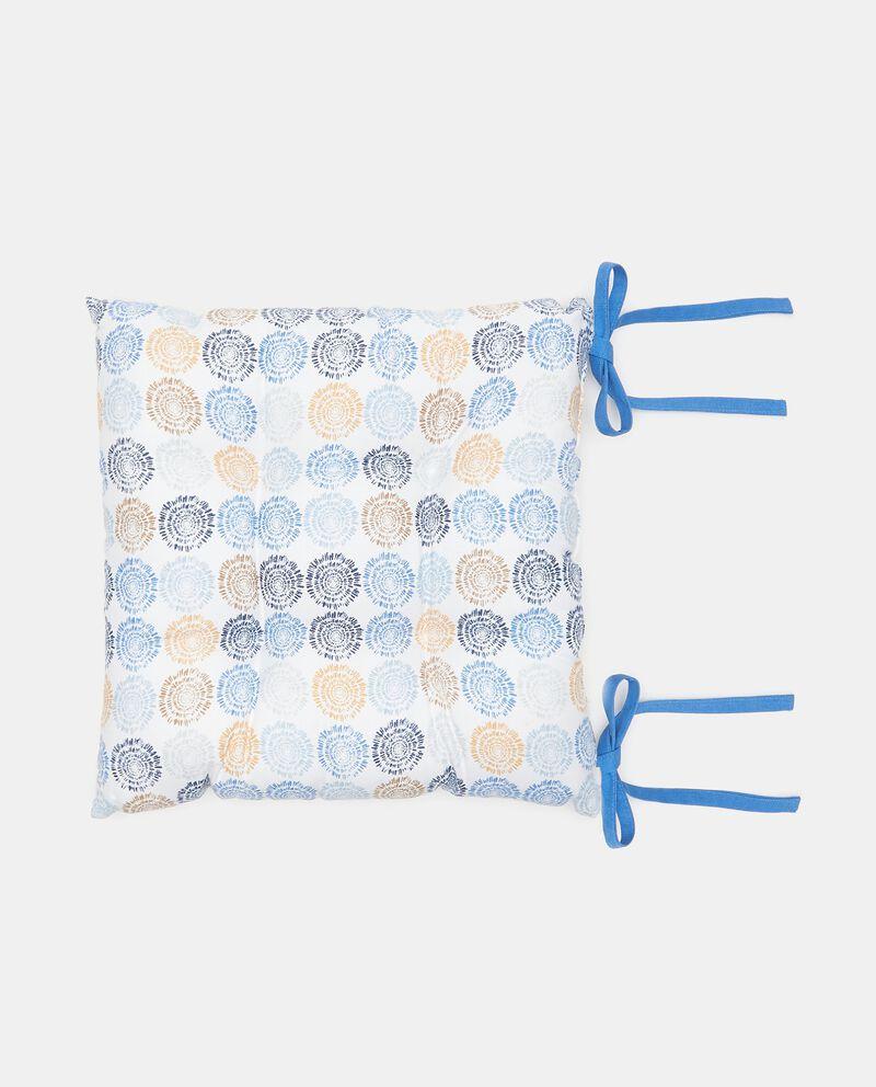 Cuscino coprisedia stampato di puro cotone
