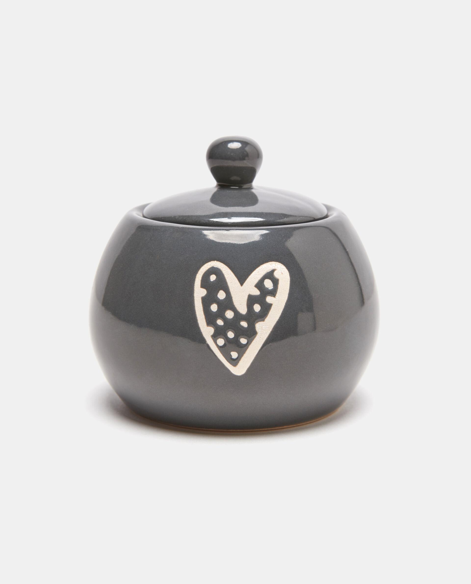 Zuccheriera in ceramica con cuore