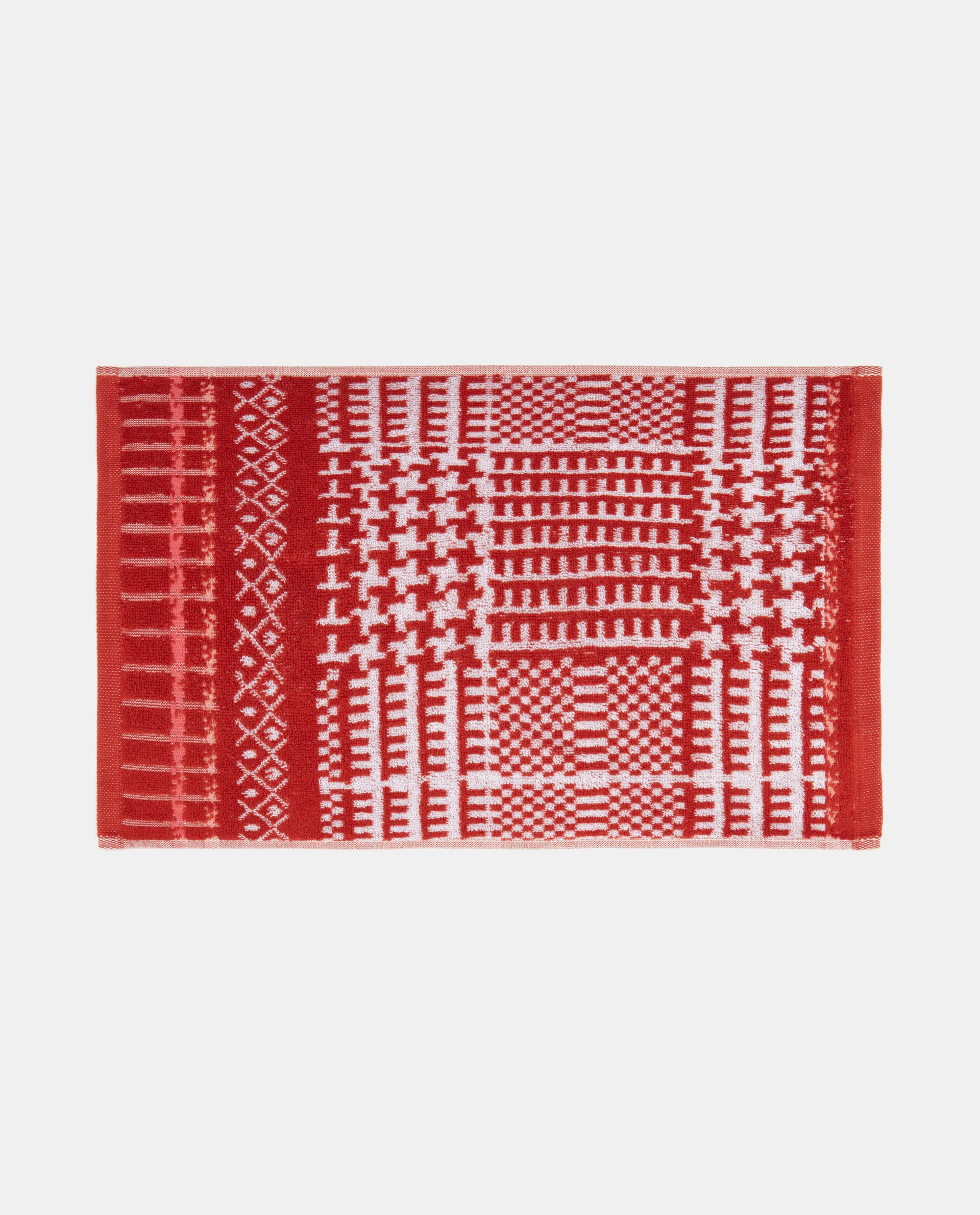 Asciugamano con decoro geometrico