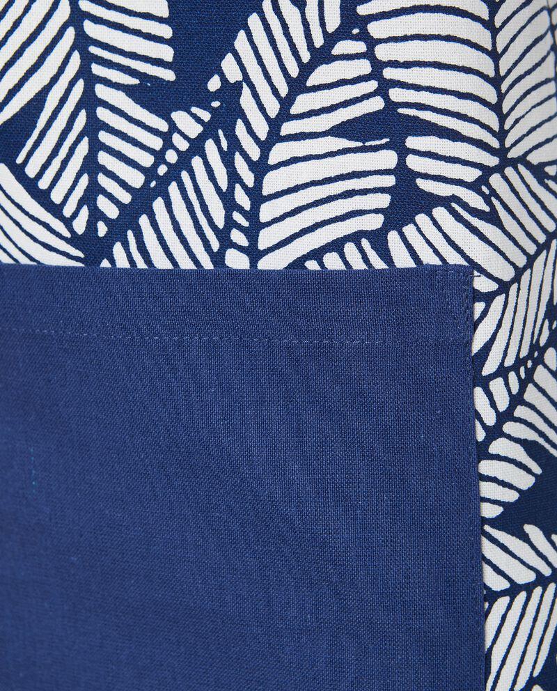 Grembiule con stampa foglie in puro cotone single tile 1