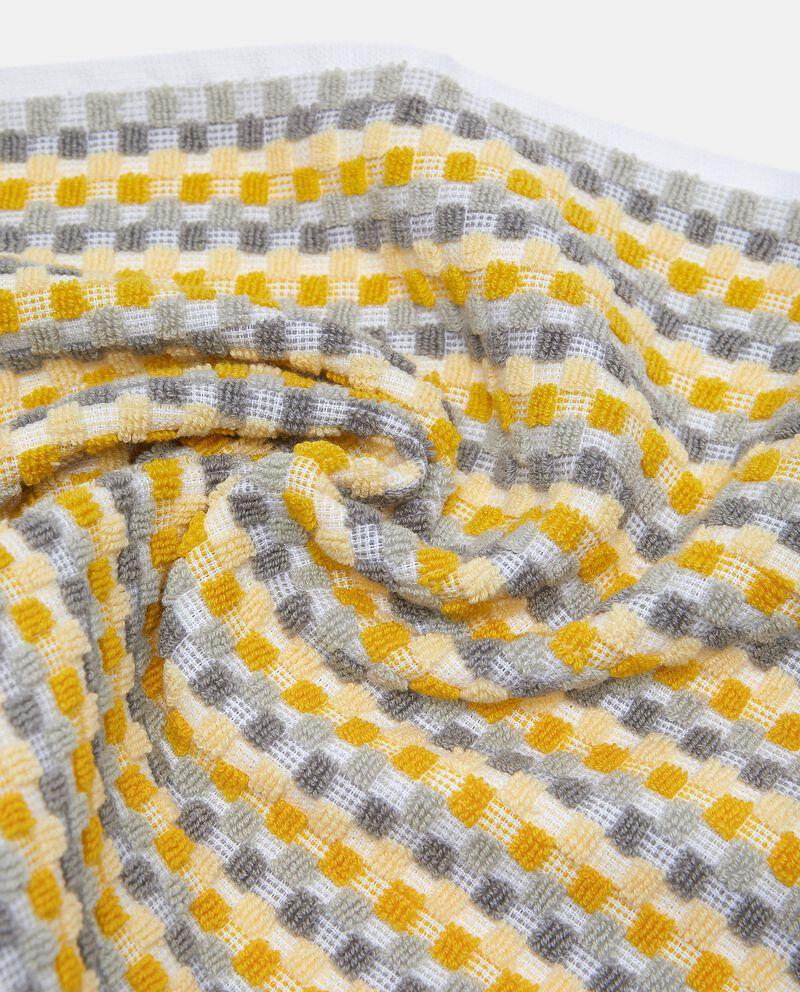 Asciugamano ospite con micro quadretti in puro cotonedouble bordered 1
