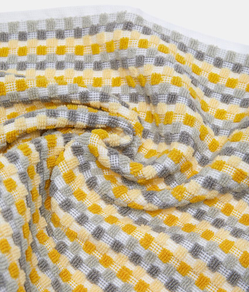 Asciugamano ospite con micro quadretti in puro cotone double 2