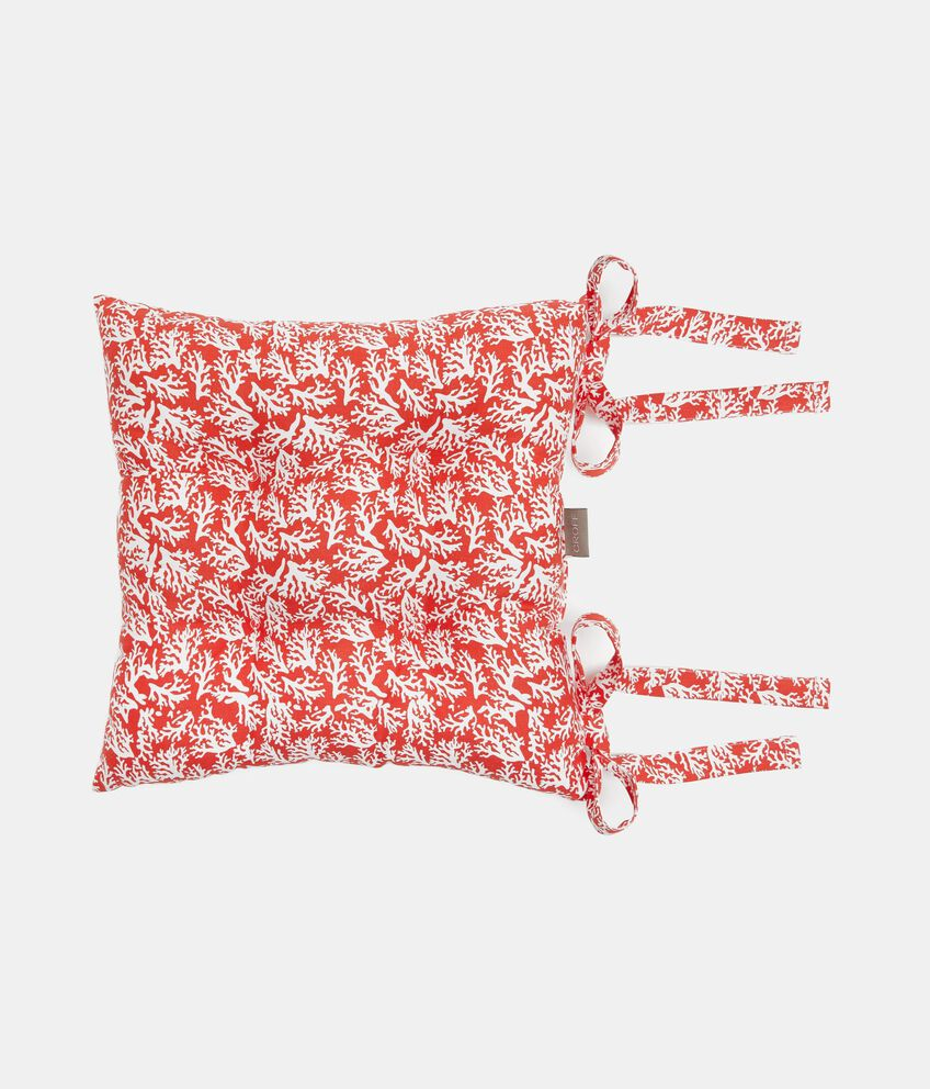 Cuscino stampa coralli all-over