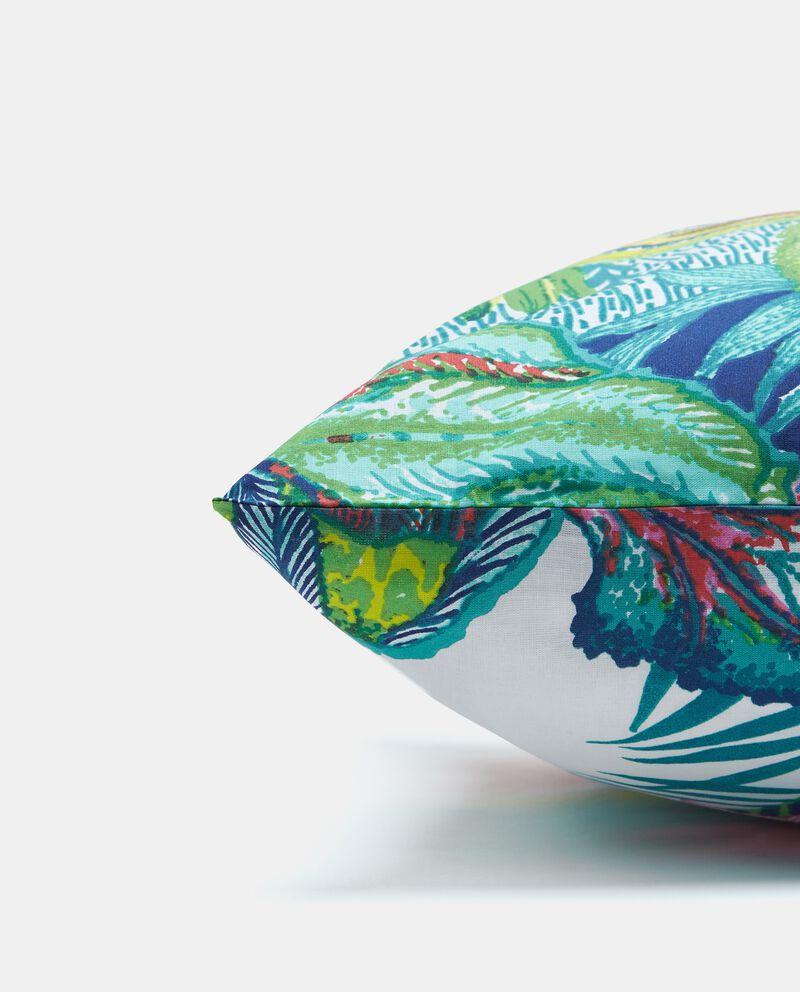 Federa con stampa tropicale in puro cotone