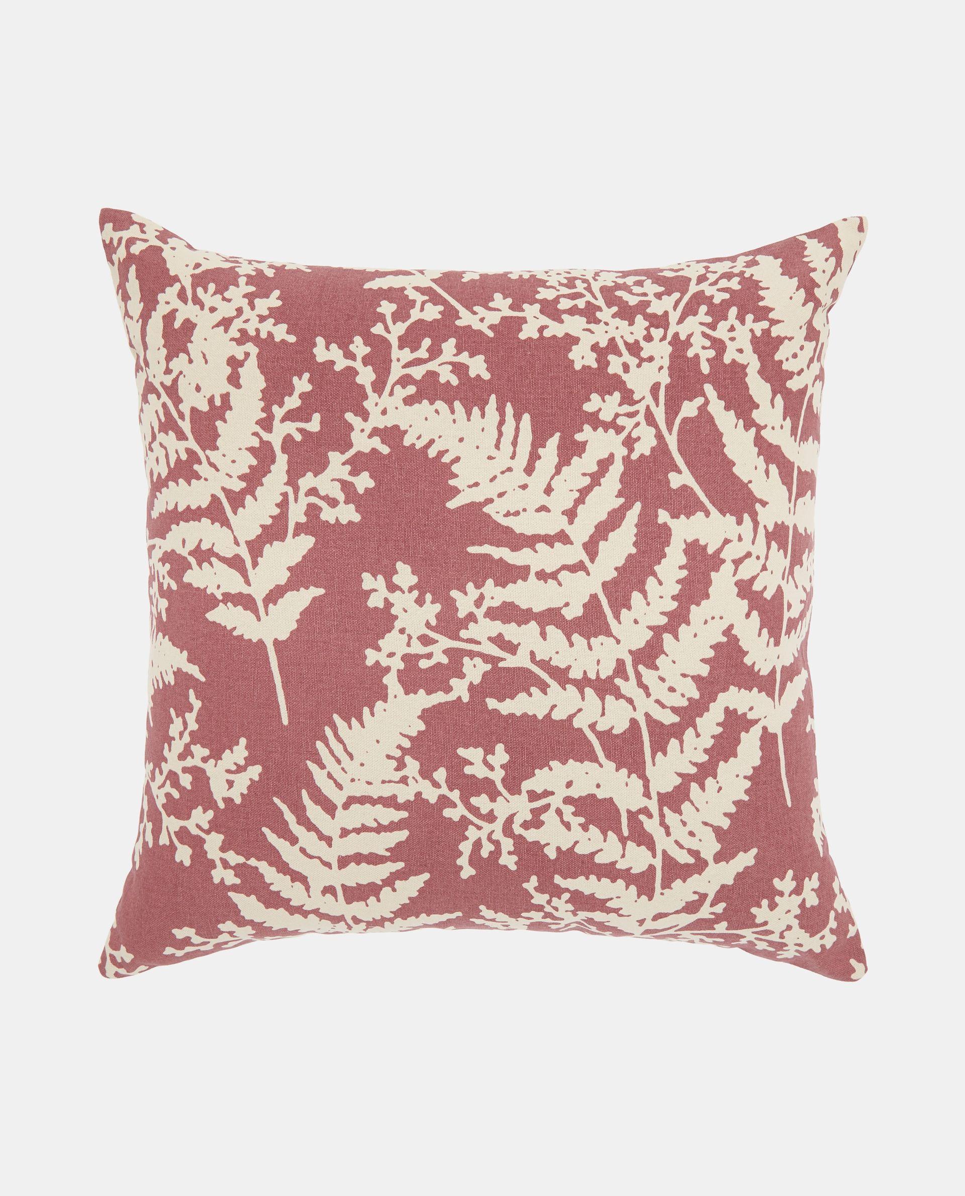 Cuscino imbottito con stampa foglie