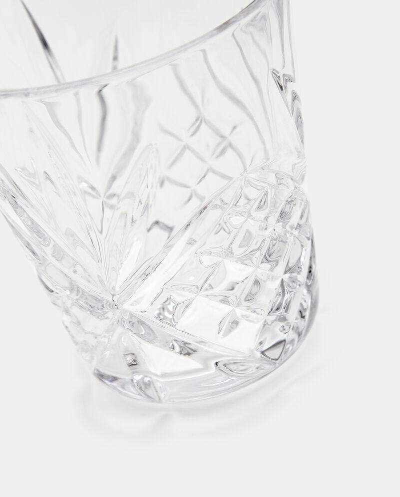 Bicchiere con rilievi in vetro single tile 1