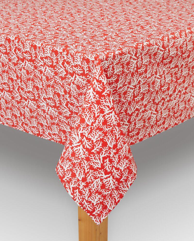 Tovaglia in puro cotone stampa coralli