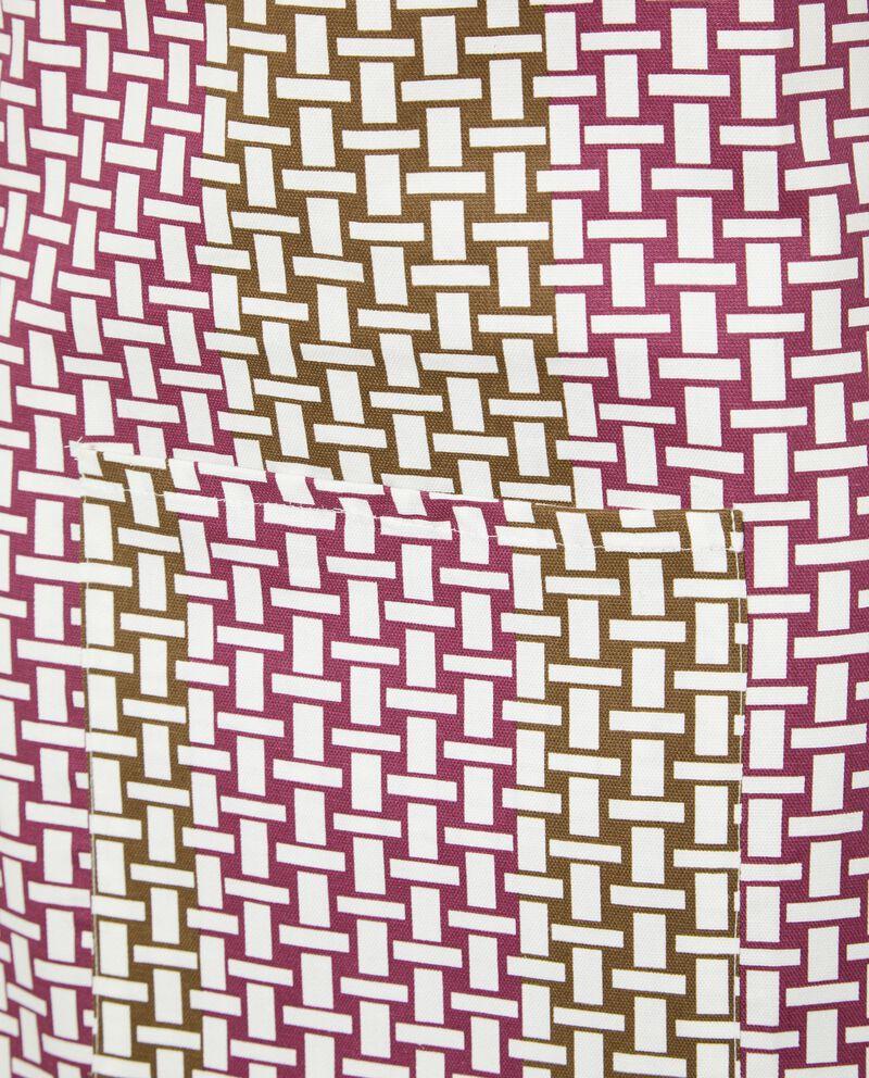 Grembiule di puro cotone con decoro incatenato single tile 1