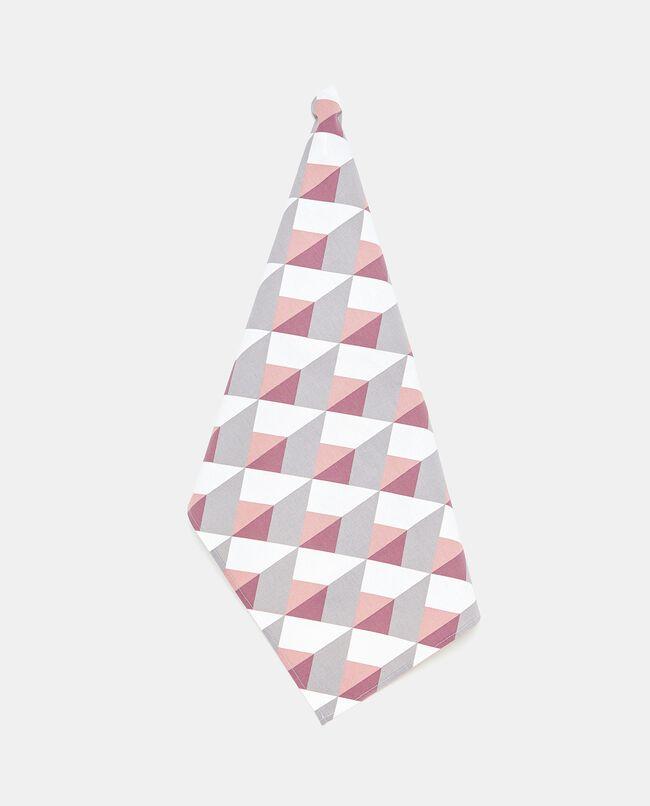 Strofinaccio in puro cotone con fantasia geometrica