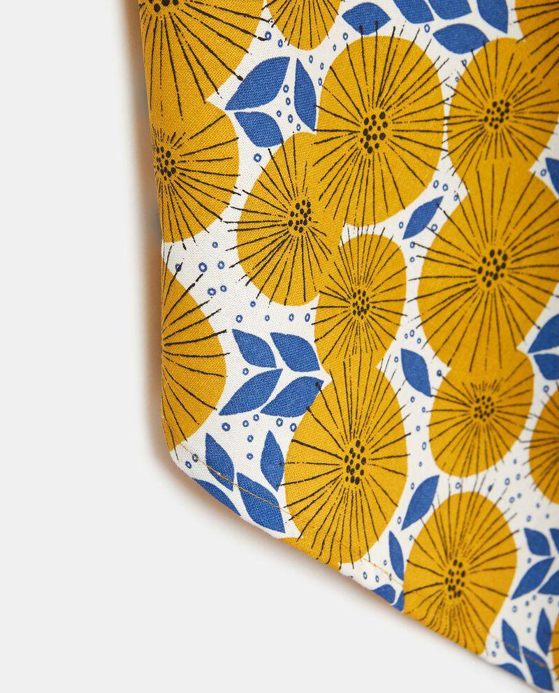 Strofinaccio con stampa fiori in puro cotone